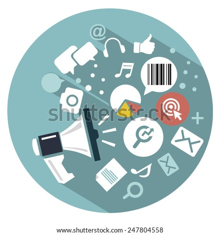 flat icon Web marketing - stock vector
