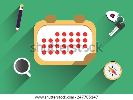 Flat icons element design. Business development. Vector illustration