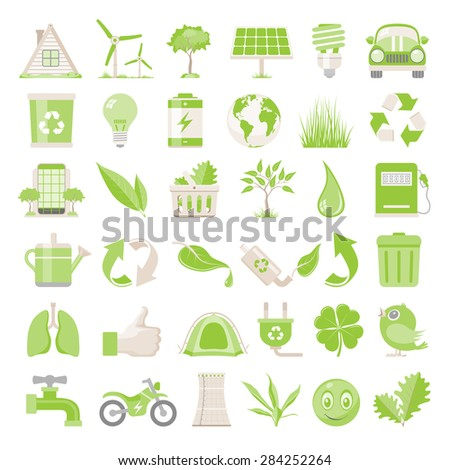 Flat Icons - Environmental Conservation