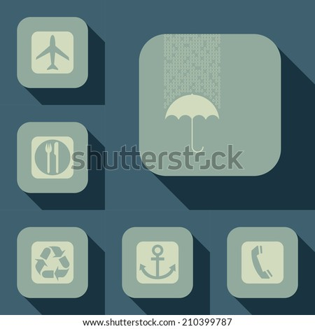 flat icons set. vector eps8