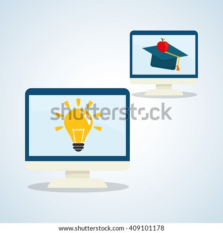 Flat illustration about back to school design, education related - stock vector