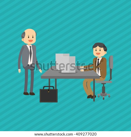 Flat illustration about businesspeople design , vector cartoon