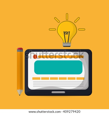 Flat illustration about idea design  - stock vector