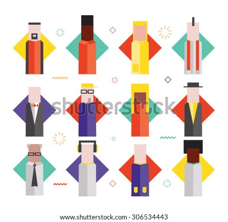 Flat illustrative vector characters