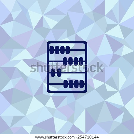 Flat image of abacus - stock vector