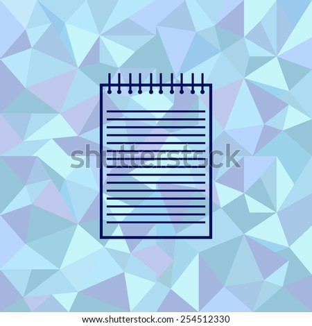 Flat image of notebook