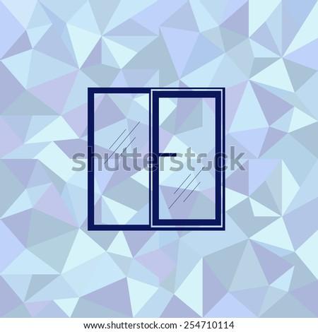 Flat image of window - stock vector