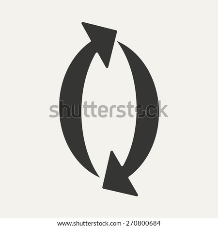Flat in black and white mobile application arrow  - stock vector