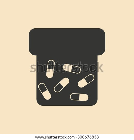 Flat in black and white mobile application tube vitamins - stock vector