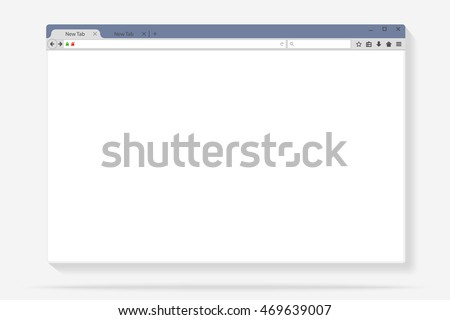 Flat internet browser windows with copy space for your text. Idea -Internet, Cloud computing, HTML Programming. Vector illustration