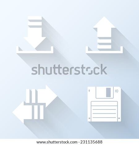 Flat internet traffic icons. Vector illustration - stock vector