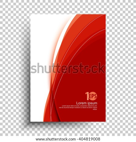 flat layout corporate business material abstract design.eps10 vector - stock vector