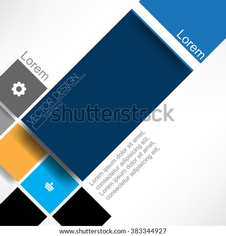 flat layout material background design