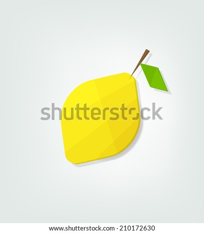 flat lemon icon - stock vector