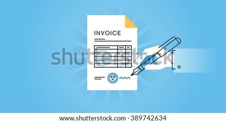 How Does Paypal Invoice Work Pdf Invoice Stock Images Royaltyfree Images  Vectors  Shutterstock Invoice Online Generator Excel with Westjet Eticket Receipt Flat Line Design Website Banner For An Invoice Online Invoice Generator  Invoice Software Invoice Order Form Pdf