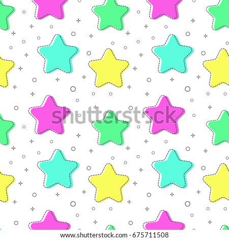 flat line star pattern vector