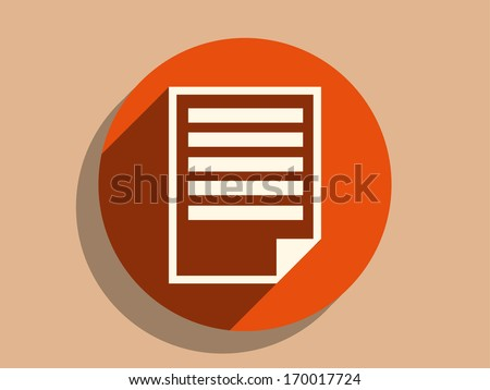 Flat long shadow icon of notes - stock vector