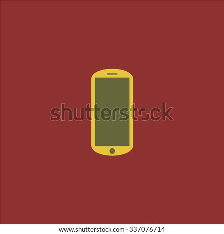 Flat mobile. Icon Vector. Icon Picture. Icon Graphic. Icon Art. Icon JPG. Icon JPEG. Icon EPS. Icon AI. Icon FLAT. Icon SIMPLE - stock vector