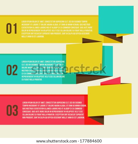 Flat Modern Curve colorful Design template numbered banners. You can be used for infographics, numbered banners, horizontal cutout lines, graphic or website layout vector