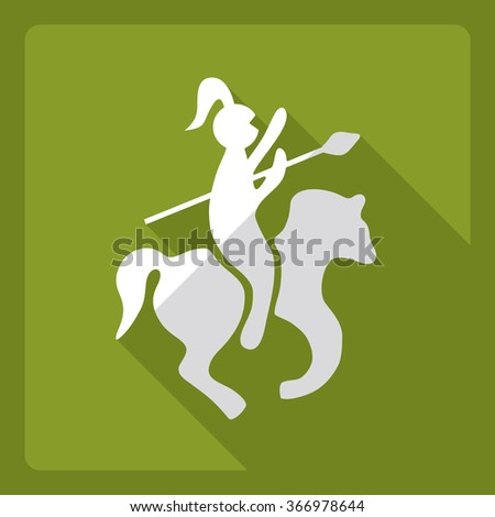Flat modern design with shadow  Icon medieval - stock vector