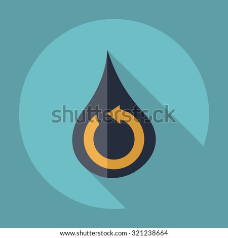 Flat modern design with shadow  Icon water cycle - stock vector