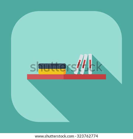 Flat modern design with shadow icons books - stock vector