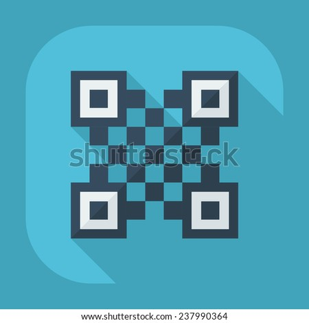 Flat modern design with shadow icons for web design and mobile applications, SEO. search Working Optimization: QR-Code - stock vector