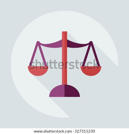 Flat modern design with shadow icons law - stock vector