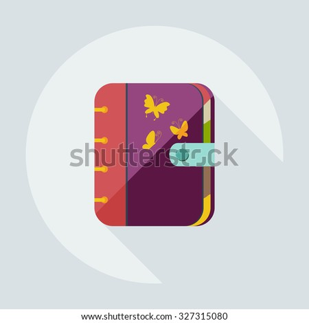 Flat modern design with shadow icons notebook - stock vector