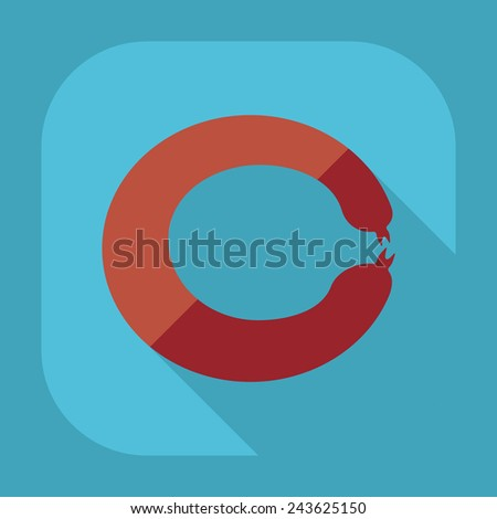Flat modern design with shadow meat products - stock vector