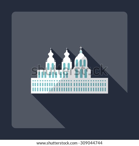 Flat modern design with shadow Melk Abbey - stock vector