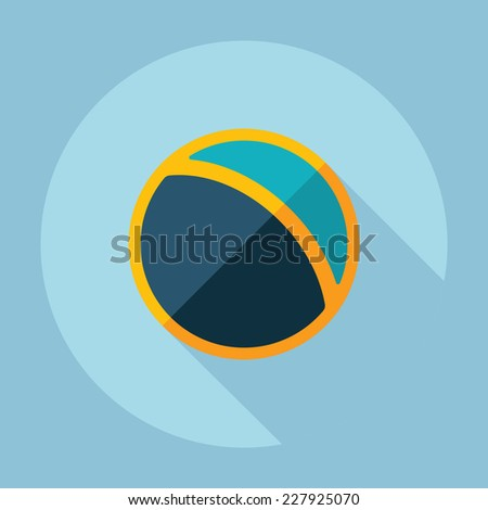 Flat modern design with shadow, SEO. Icons mobile applications and web design. Working optimization:  ball - stock vector