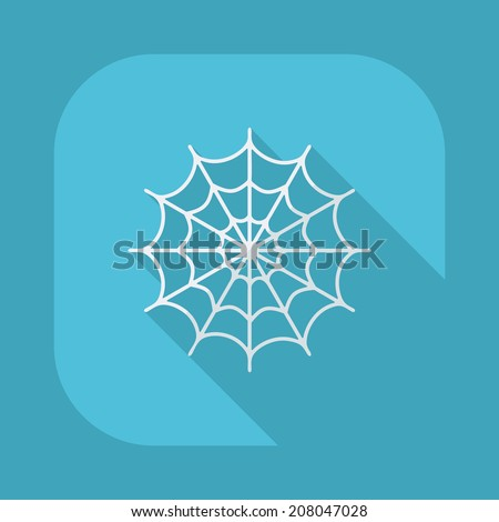 Flat modern design with shadow vector icons: halloween - stock vector
