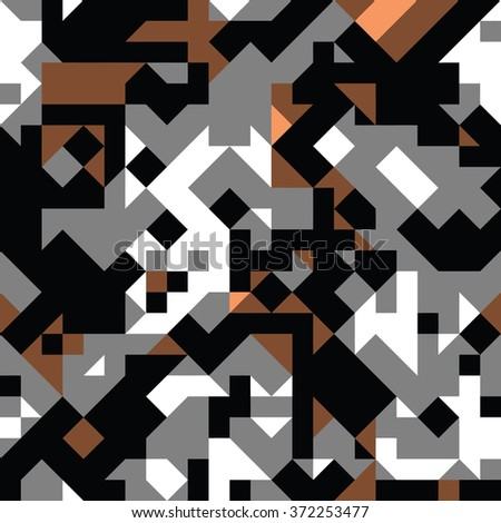 flat modern geometry - vector seamless pattern