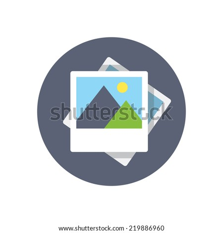 Flat modern vector icon: picture. - stock vector
