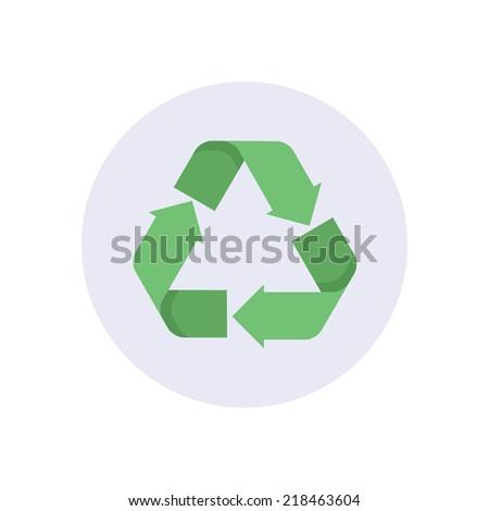 Flat modern vector icon: recycling. - stock vector