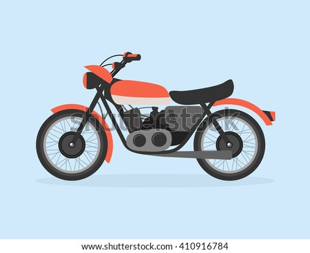 Flat motorcycle design illustration - stock vector
