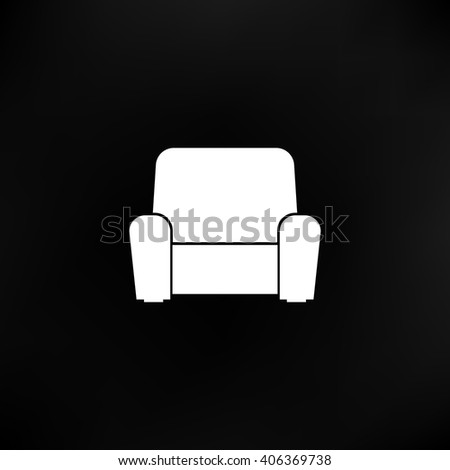 Flat paper cut style icon of furniture. Vector illustration - stock vector