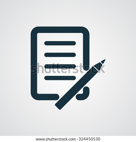 Flat Pen And Paper icon - stock vector