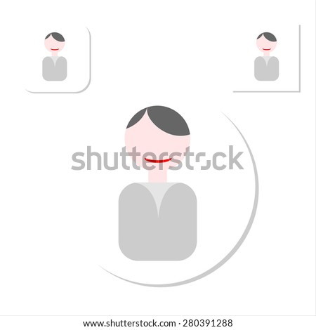 Flat people icons. Faces of people for avatar, profile page, for app or web design made in modern flat style. Vector men characters. - stock vector