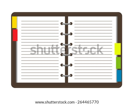 Flat personal organizer. Vector