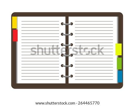 Flat personal organizer. Vector - stock vector