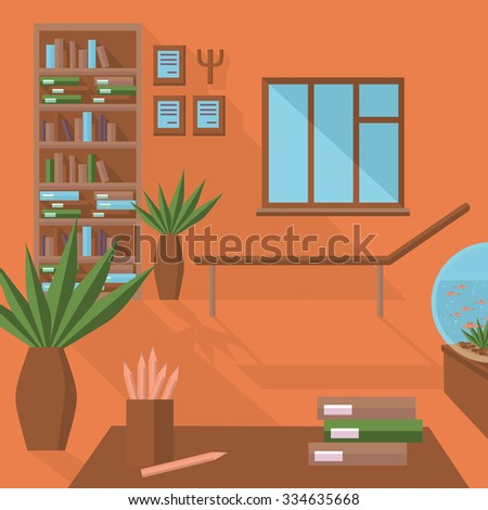Flat Psychologist Office, Flat Vector Psychological Therapy