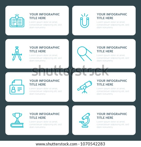 Flat Science Education Infographic Timeline Template Stock Vector