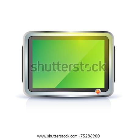 Flat screen tv lcd, plasma icon - stock vector