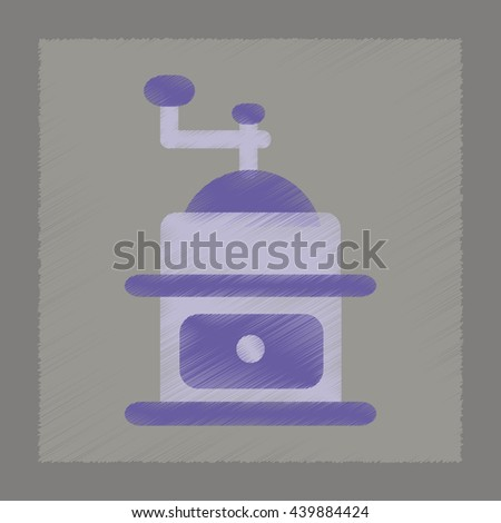 flat shading style icon coffee mill