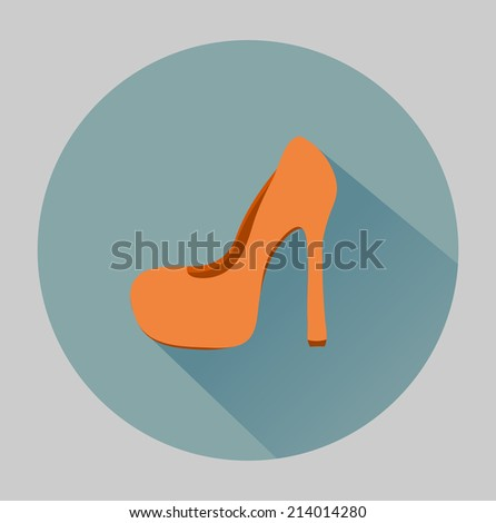 Flat shoe icon - stock vector