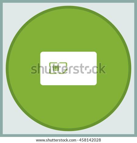 Flat sim card case illustration. - stock vector