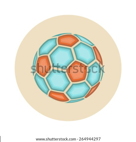 Flat Soccer Ball Icon