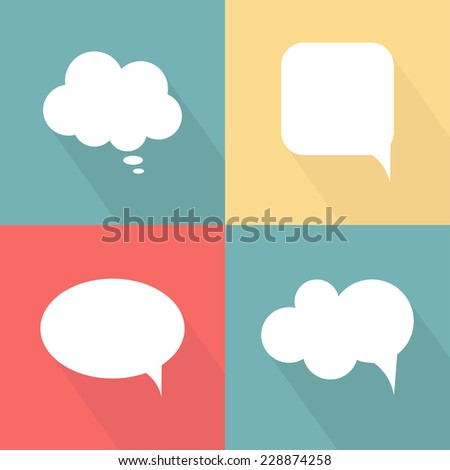 Flat speech bubbles. Vector illustration